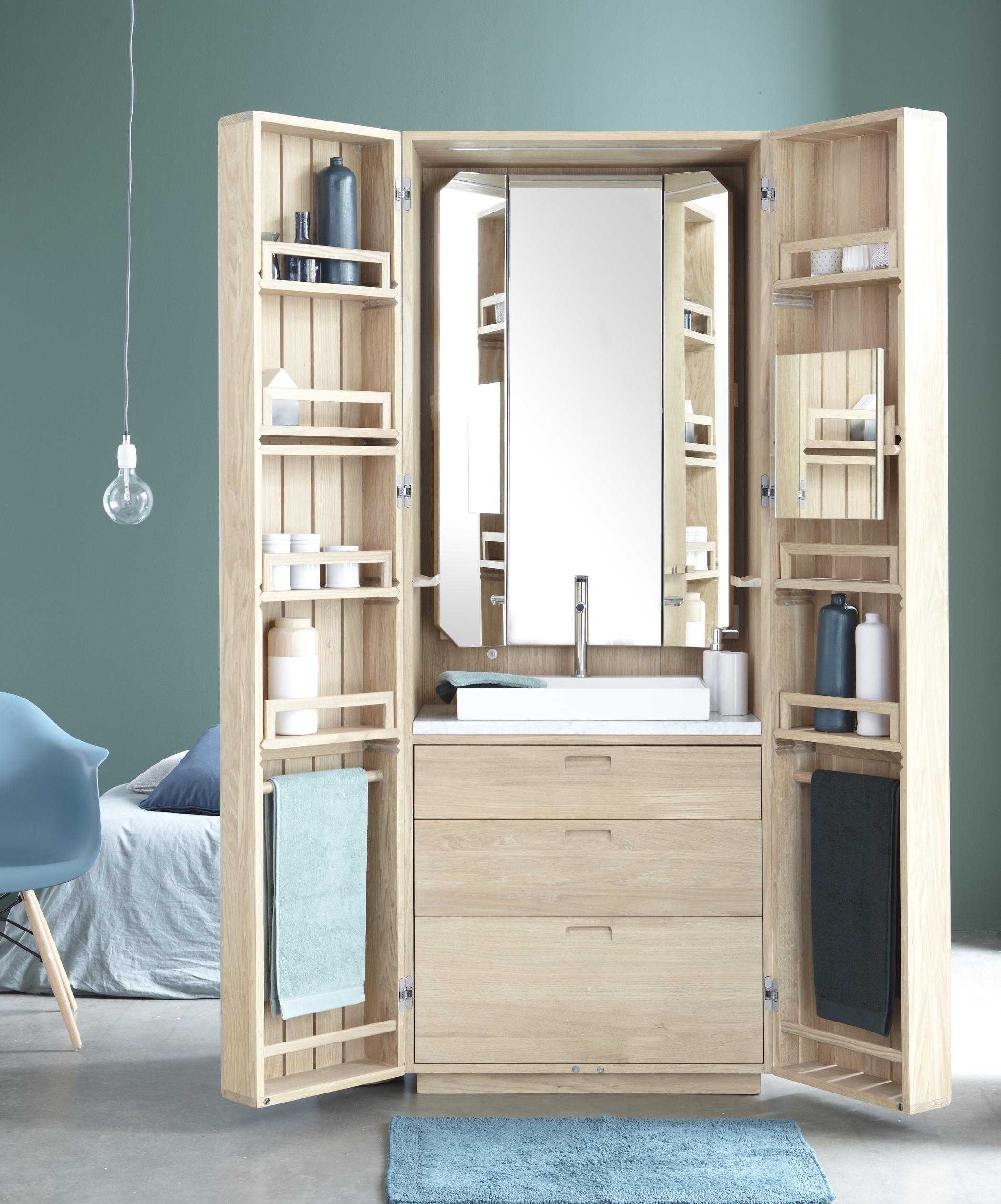 Miroir salle de bain art deco for Placard salle de bain miroir