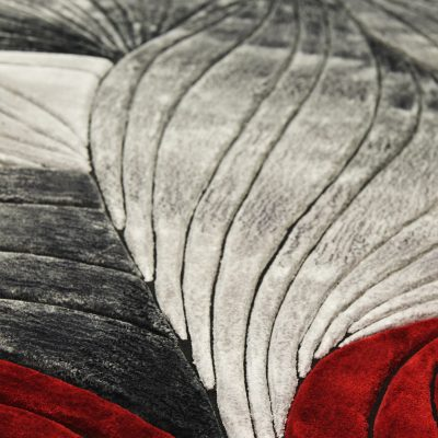 "Tapis ""Flow"", rouge et gris - Photo@Nicolas Lobet"