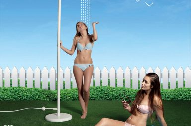 ZEE LEVANTINE Outdoor Shower with-Koro floorboard