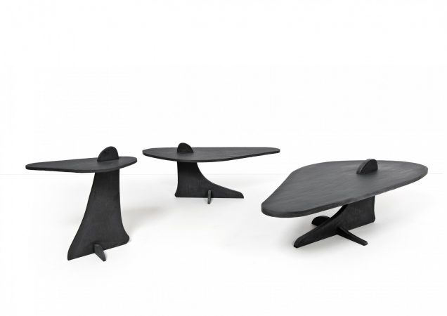 Mountains - Slate leaves Table basse / Coffee table: H 49 / 40 x 120 x 53 cm © Xavier Lust, Botanique