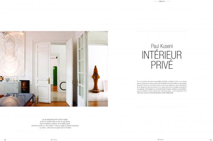 Intérieur privé Paul Kuseni- Eccelso magazine 1/2