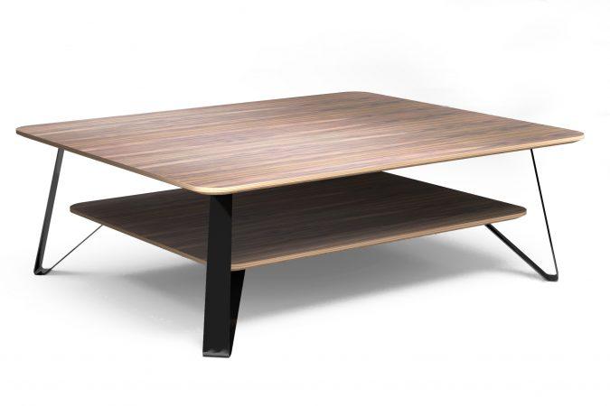 Anna la table basse en noyer - Mes bois intérieurs