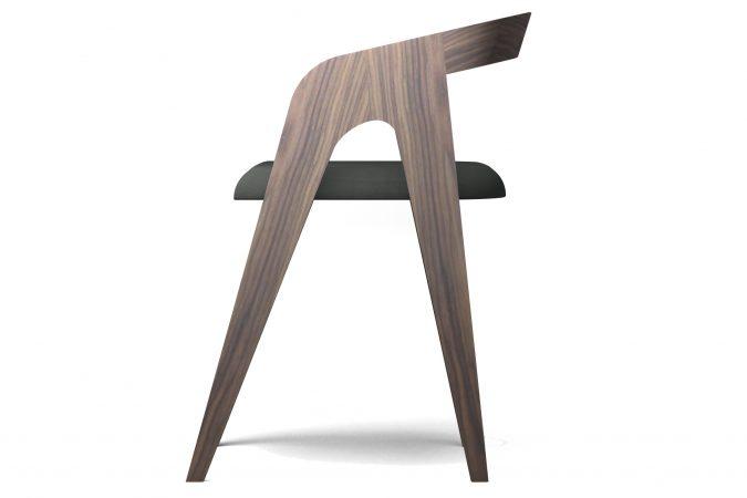 Salomé, la chaise en noyer - Mes bois intérieurs