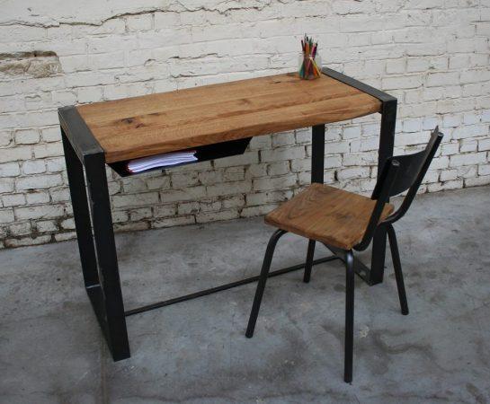 Giani Desmet - Bureau en metal bois industriel vintage sur mesure