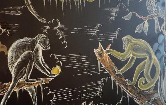 Fresque murale Hôtel l'Arbre Voaygeur