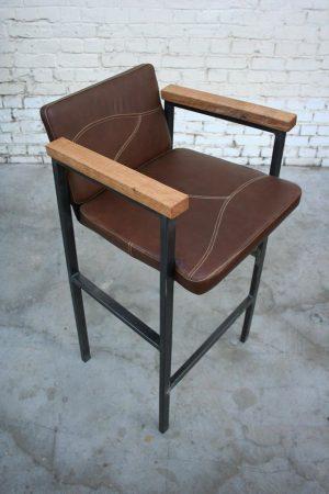 Giani Desmet - Chaise en cuir, métal et bois