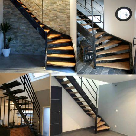 Giani Desmet - Escalier métal et bois sur mesure