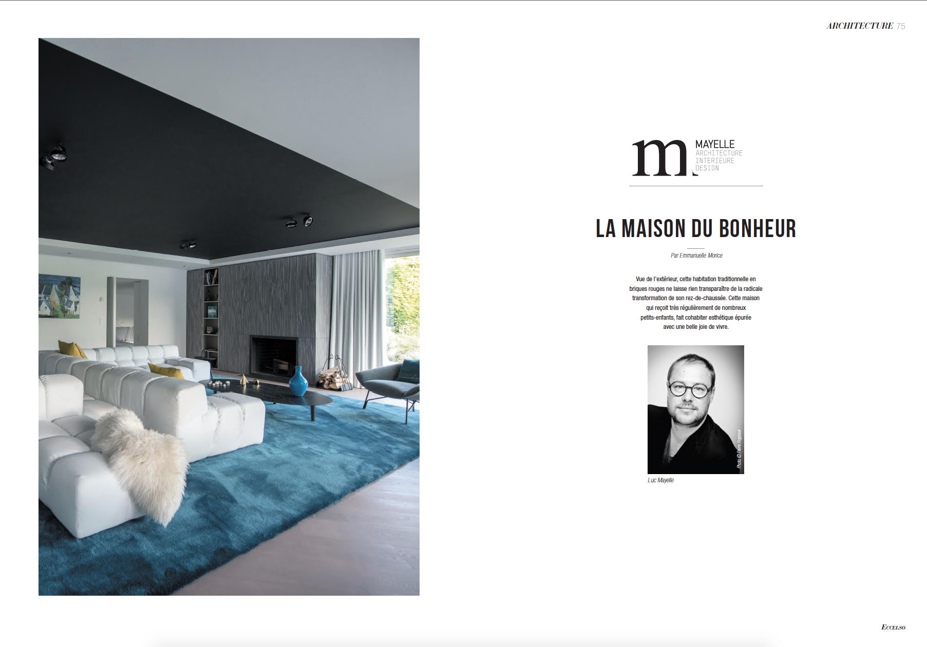 Mes sujets dans eccelso magazine emmanuelle morice for Design et architecture